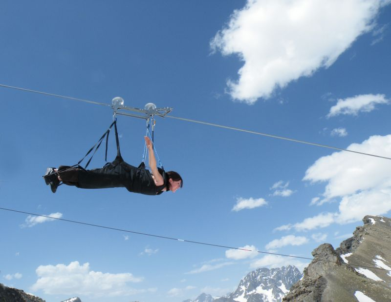 Zip line in the Southern French Alps