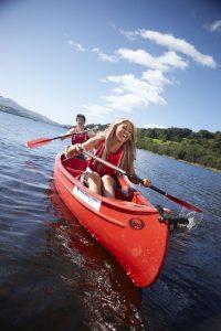 Canoeing Bala Lake