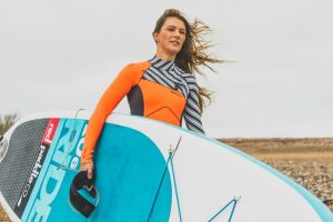 Lizzie Carr paddle boarding