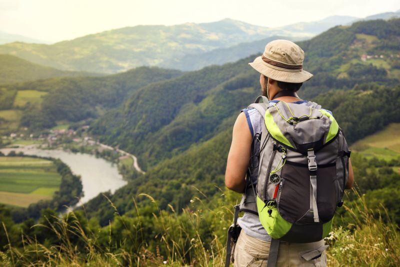 Man hiking outdoors