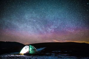Wild camping under the stars