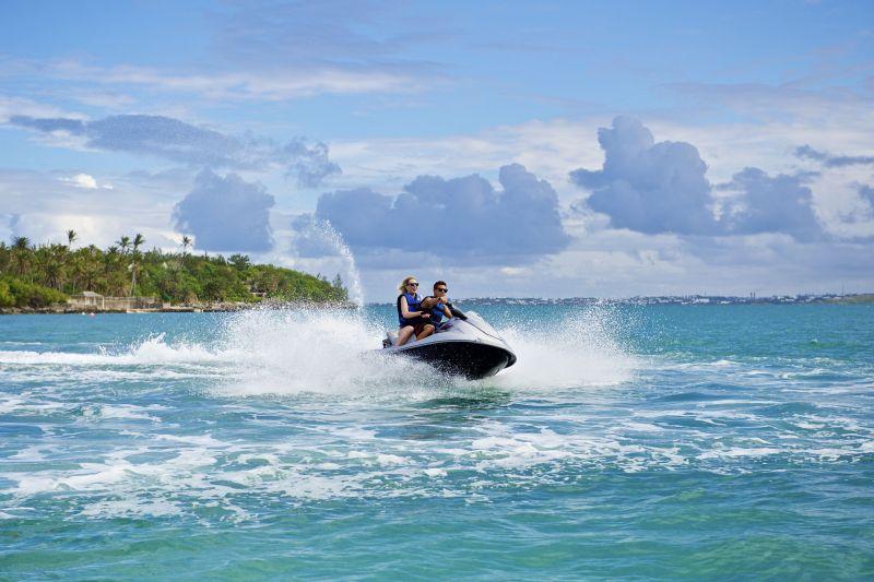 Jet skiing in Bermuda