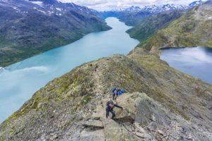 Hiking Besseggen Ridge in Norway