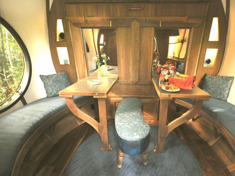 Sphere tree house interior