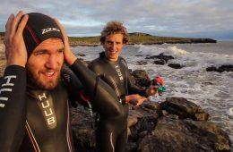 Kerran and Graham prepare for swimming challenge across Scotland