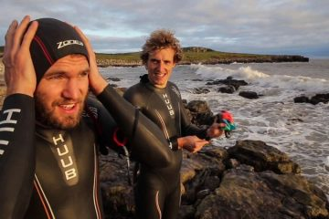 Kerran and Graham prepare for swimming challenge across Scotland