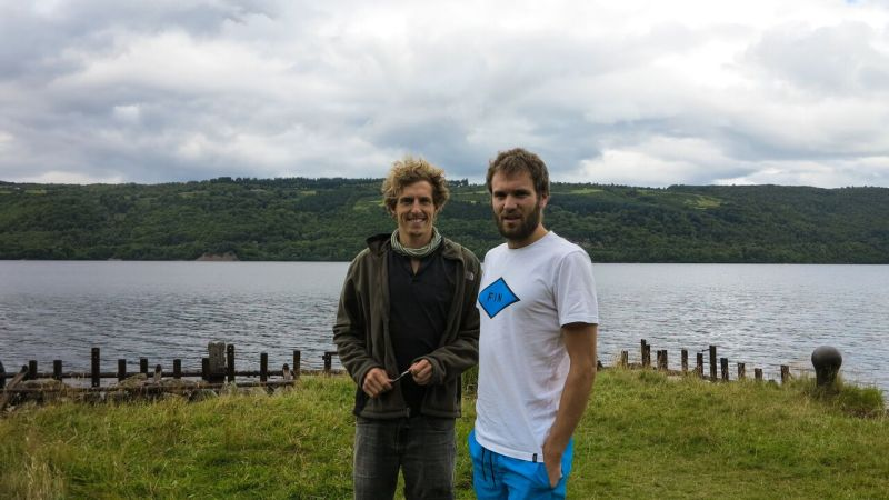 Kerran and Graham swim across Scotland challenge