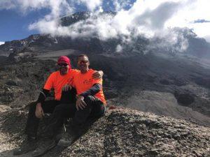Hikers on Mount Kilimanjaro