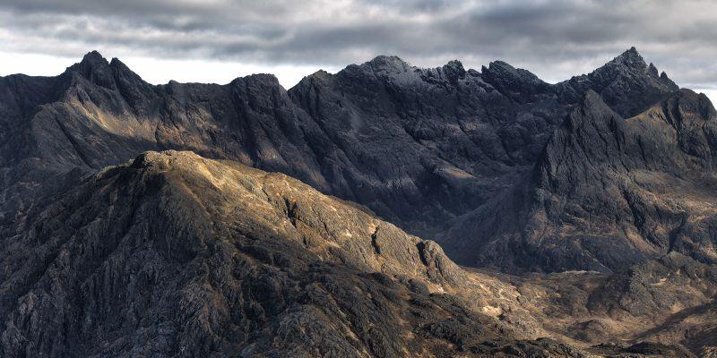 Cuillin Ridge in Scotland