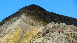 Hikers on Belncathra, Lake District