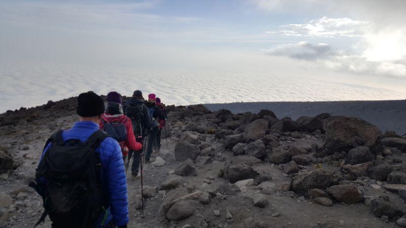 Trekking in Tanzania, Africa