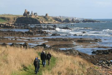 Heading for St Monans on Fife Coastal Path