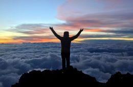 Jon Gupta on the summit of Mount Kilimanjaro