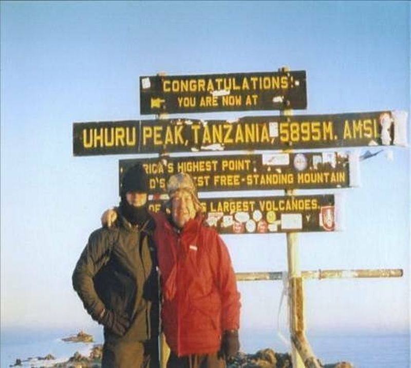 Standing at the highest point in Africa