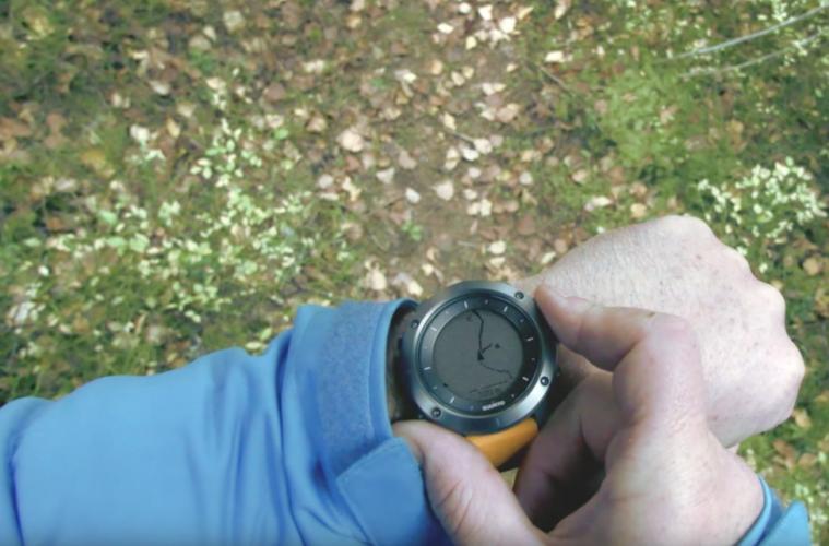 Suunto Traverse GPS Watch in use