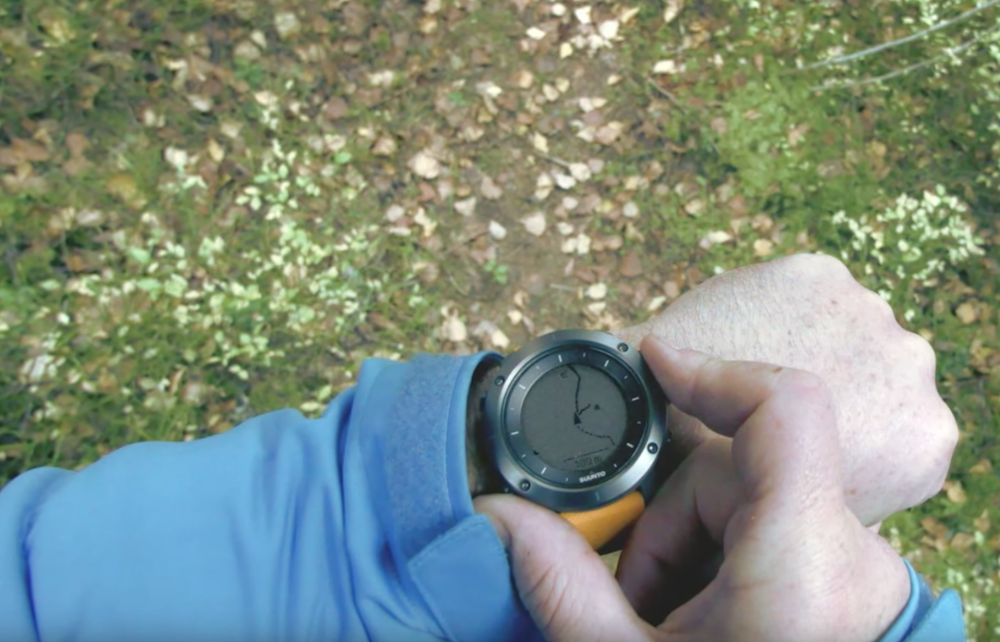 Suunto Traverse GPS Watch in use