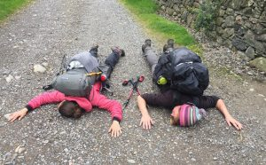 Tired hikers in the Lake District