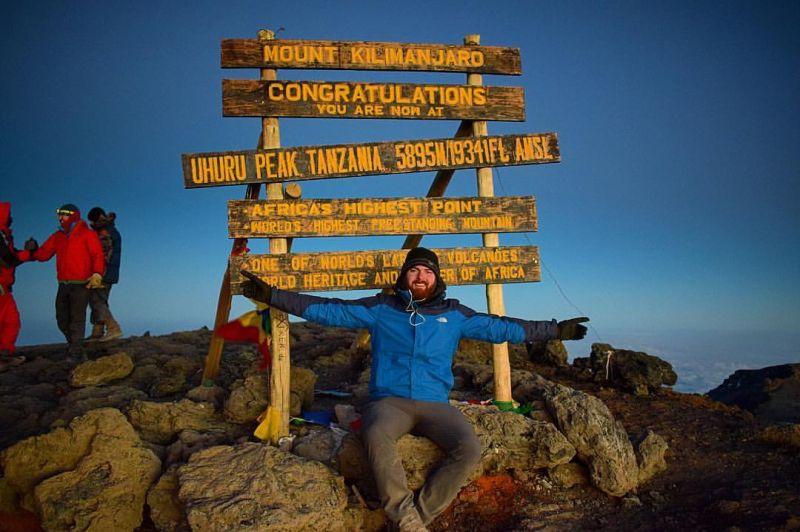 The sign at Uhuru Peak