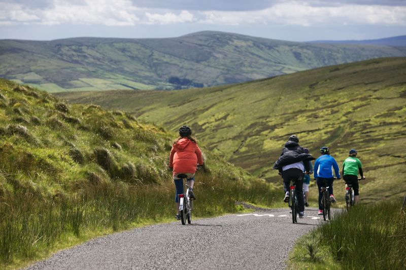 Cycling in the Sperrin Mountains Northern Ireland