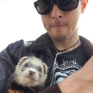 Charlie Hammerton and ferret Bandit