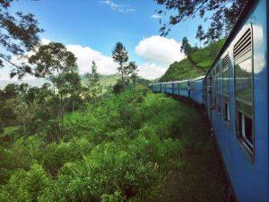Ella to Kandy train in Sri Lanka