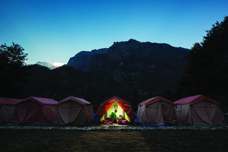 Eco camp in Nepal