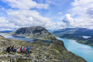 Looking toward Besseggen Ridge