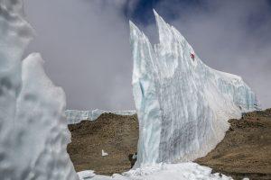 Ice climbing on Mount Kilimanjaro