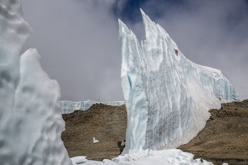 Ice climbing on Mount Kilimanjaro