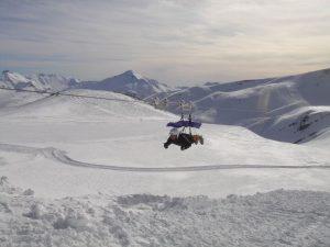 Giant Tyrolean zip-wire