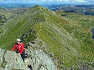 Helvellyn Swirral Edge, Lake District