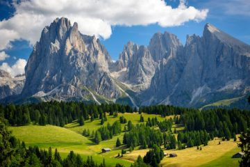 Mountains in the Dolomites, Itay