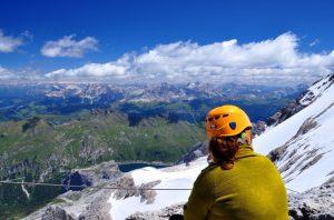 Marmolada via ferrata Dolomites