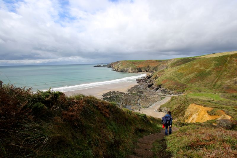 Beach on Pembrokeshire Coast Path