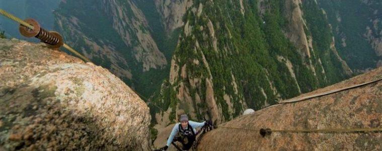 Hiking Mount Huashan in China