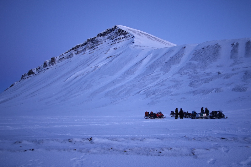 Snowmobiling on Svalbard