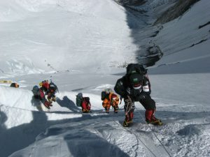 Climbers Mount Everest
