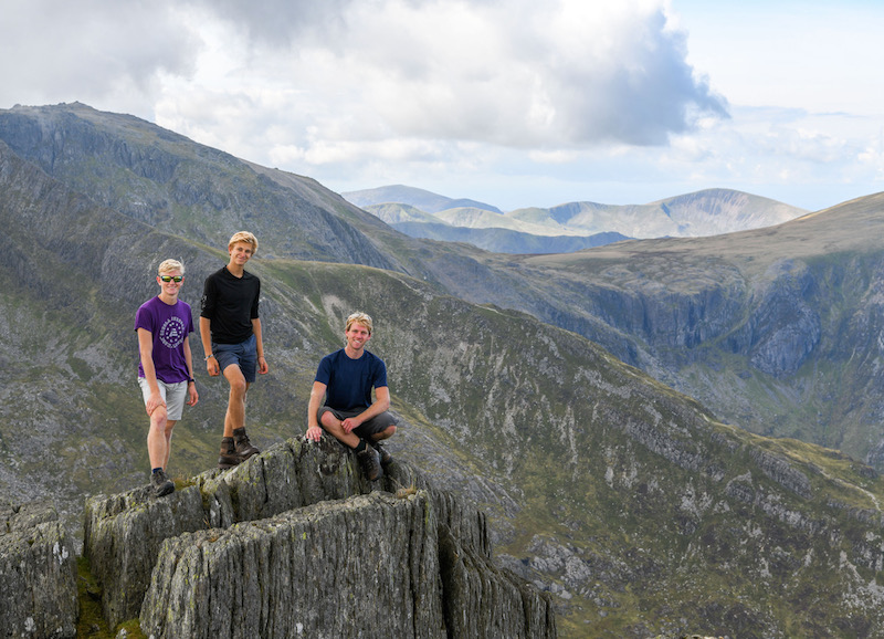 Hikers on Tryfan