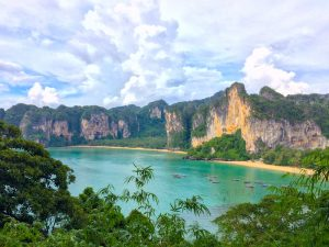 Limestone cliffs in Railay