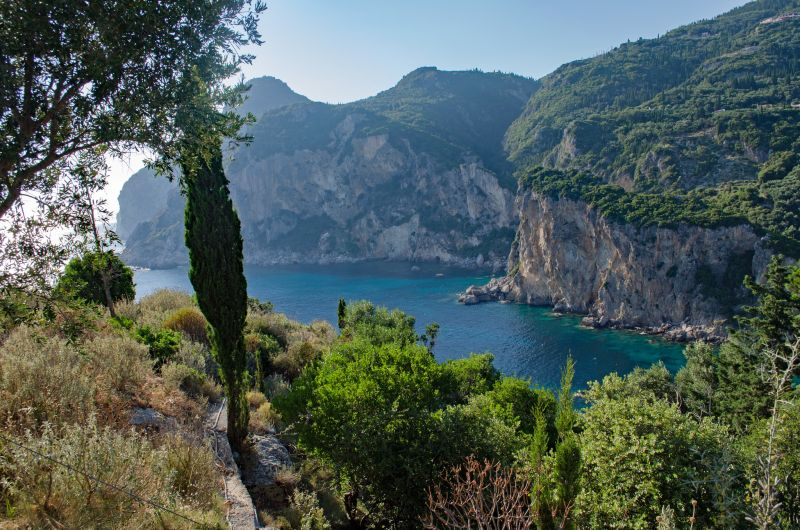 Corfu hiking trail