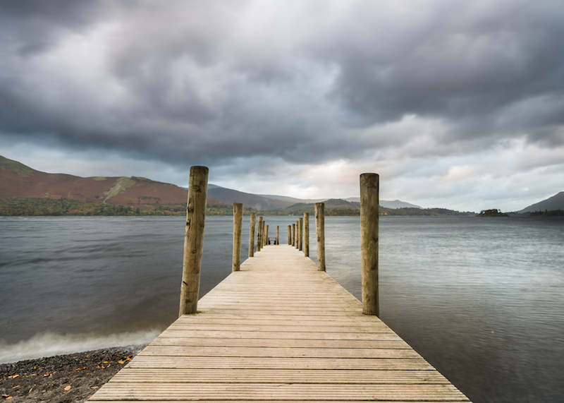 Derwent Water, how to take good photos on cloudy days