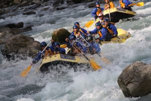 Rafting the Val di Sole in Italy
