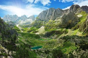 The Balkans mountains Albania