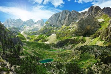 The Balkans mountains Albania