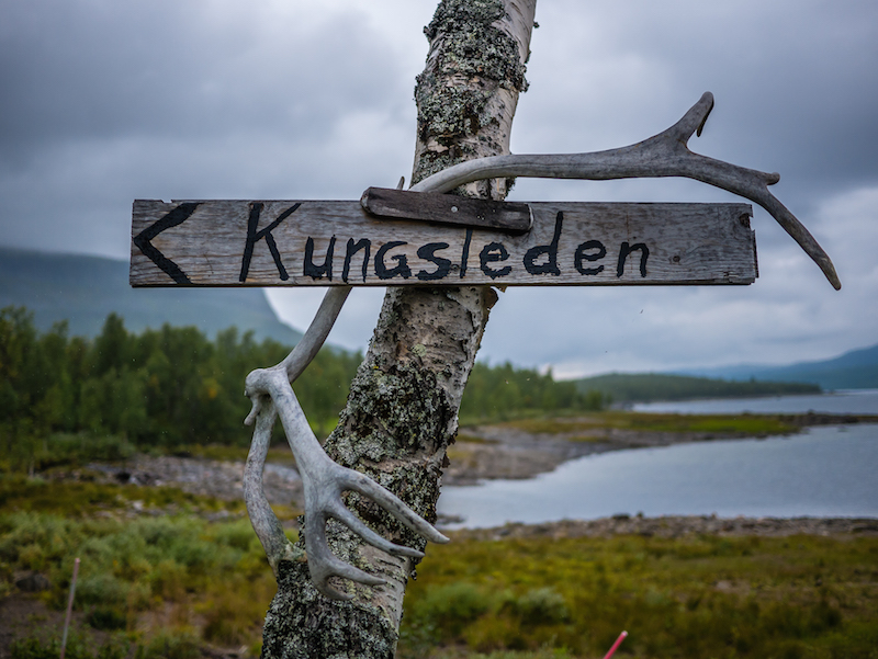 The King's Trail sign