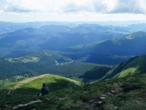 View from Mount Hoverla summit