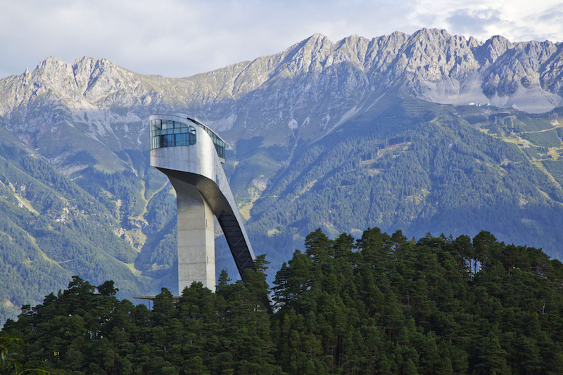 Bergisel Olympic Ski Jump Tower in Innsbruck