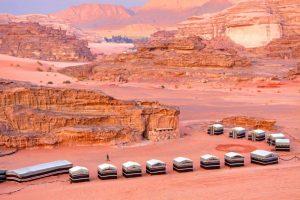 Desert camping in Jordan
