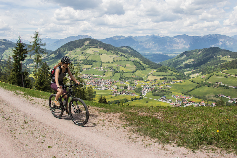 Mountain biking in Wildschonau, Austria