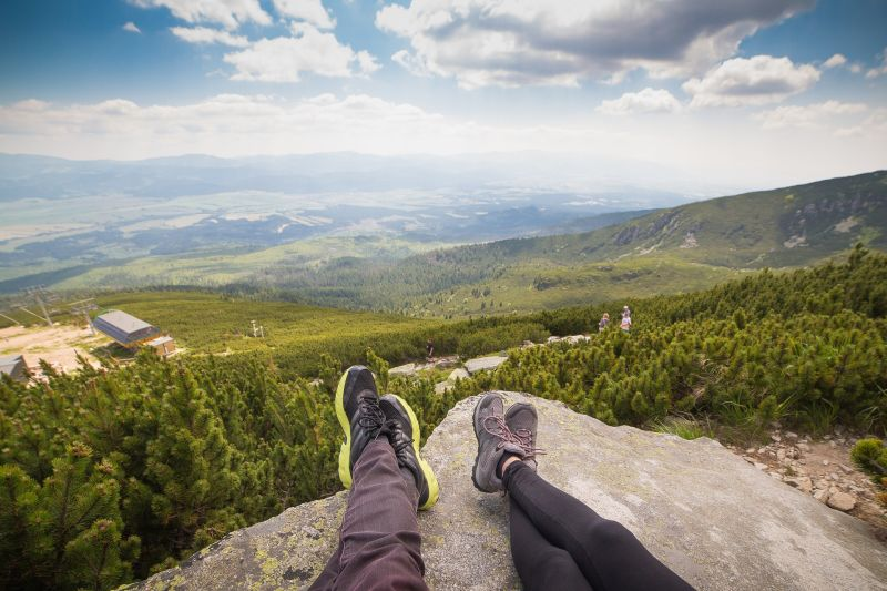Relaxing on a mountain